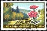Stamps Asia - Mongolia -  Paisajes con flores dianthus prasinus.