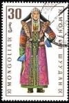 Stamps Asia - Mongolia -  Trajes típicos. Daringanga (mujer).