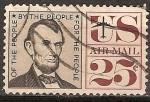 Sellos de America - Estados Unidos -  Abraham Lincoln.Correo aereo.