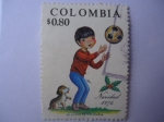 Stamps Colombia -  NAVIDAD 1974
