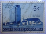 Stamps of the world : Colombia :  Hotel Tequendama Bogotá - Iglesia de San Diego