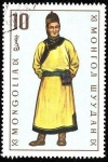 Stamps of the world : Mongolia :  Trajes típicos. Torguk (hombre).