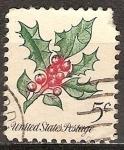 Sellos de America - Estados Unidos -  Navidad - Acebo.