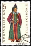 Stamps Asia - Mongolia -  Trajes típicos. Bayit (mujer).