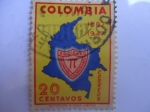 Stamps of the world : Colombia :  sociedad colombiana de ingenieros.