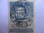 Sellos de America - Colombia -   Javier Pereira (1789-1956)