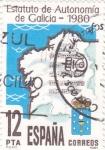 Sellos de Europa - España -  Estatuto de Autonomía de Galicia-1980     (E)