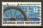 Sellos de America - Estados Unidos -  Navegación del río Arkansas.