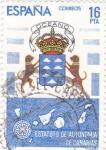 Stamps Spain -  Estatuto de Autonomía de canarias     (E)