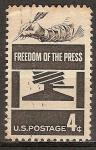 Sellos del Mundo : America : Estados_Unidos : Libertad de Prensa.