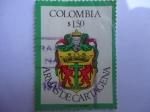 Stamps Colombia -  Escudo de Armas de Cartagena.