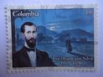 Stamps of the world : Colombia :  José Asunción Silva (1865-1896) Poeta Colombiano (Dib. Castillo Cervantes)