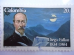 Stamps America - Colombia -  Diego Fallón (1834-1905) 150°Aniversario de su Nacimiento-Profesor d la Univ. Nacional de Colombia.