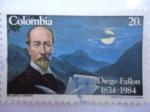 Stamps America - Colombia -  Diego Fallón  (Dib: Castillo Cervantes)