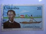 Stamps America - Colombia -  CANDELARIO OBESO - Escritor.