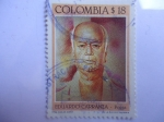 Stamps of the world : Colombia :  EDUARDO CARRANZA - Poeta