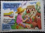 sellos de America - Colombia -  Fundación Rafael Pombo para la niñez. Navidad 85.
