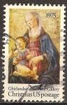 Sellos del Mundo : America : Estados_Unidos : Navidad USA. Virgen y el Niño 1975.