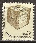 Sellos de America - Estados Unidos -  Caja de boleta de votación anticipada -
