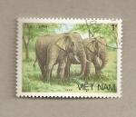 Stamps Vietnam -  Par de elefantes