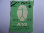 Stamps of the world : Colombia :  Scott/Colombia:C518 - ICSS. Instituto Colombiano de Seguros Sociales-1949-1969