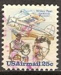 Sellos de America - Estados Unidos -   NR-105-W & Post en traje presurizado, Portrate.