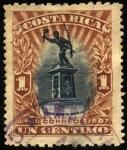 Stamps America - Costa Rica -  Monumento a Juan Santa María. UPU 1907.