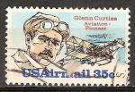 Sellos del Mundo : America : Estados_Unidos : Glenn Curtiss  Pionero en la aviación.