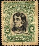 Stamps Costa Rica -  Juan Mora. UPU 1907.