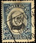 Stamps Costa Rica -  Braulio Carrillo. UPU 1907.