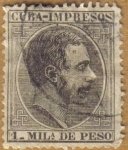 Stamps Cuba -  ALFONSO XII