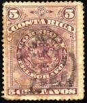 Stamps Costa Rica -  Escudo de Costa Rica. UPU 1892.