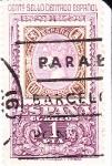 Stamps Spain -  centenario del primer sello dentado     (E)
