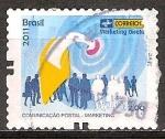 Sellos de America - Brasil -  Tarjetas de comunicación - Marketing Directo.