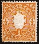 Stamps Germany -  Clasicos - Sachsen