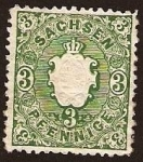 Stamps Germany -  Clásicos - Sachsen