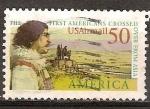 Sellos de America - Estados Unidos -  Los primeros americanos cruzaron desde Asia.