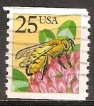 Sellos de America - Estados Unidos -  Abeja de miel.