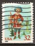 Sellos de America - Estados Unidos -  Chica con Jumping Jack.