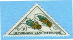 Stamps : Africa : Central_African_Republic :  Sternotomis Gama