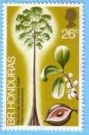 Stamps : America : Belize :  Hardwoods