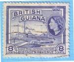 Sellos de America - Guyana -  Sugar cane enterin factory