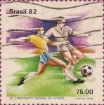 Sellos de America - Brasil -   XII Campeonato Mundial de Fútbol, España' 82 -
