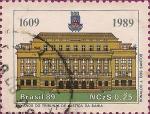 Stamps Brazil -  380 Años del Tribunal de Justicia de Bahía (1609-1989).