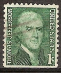 Sellos del Mundo : America : Estados_Unidos : Thomas Jefferson.