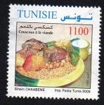 Stamps Tunisia -  Cuscús con carne
