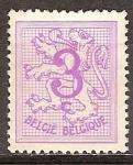 Sellos del Mundo : Europa : Bélgica : Número de león heráldico.