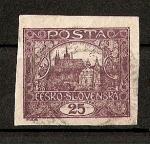 Sellos de Europa - Checoslovaquia -  Castillo de Praga./ Republica.