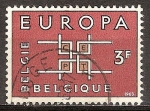 Sellos del Mundo : Europa : Bélgica : Europa. La cooperación (C.E.P.T).