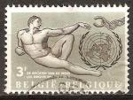 Sellos del Mundo : Europa : Bélgica : Los derechos del hombre.
